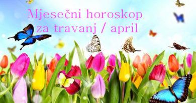 Mjesečni horoskop za travanj / april 2018.