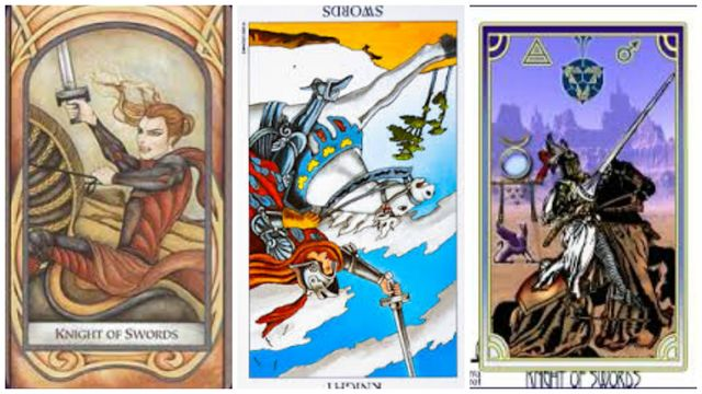 Tarot karta Vitez mačeva