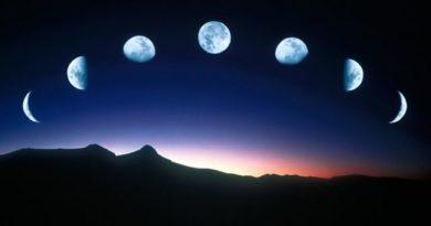 mjesec u aspektima sa sjevenim mjesečevim čvorom