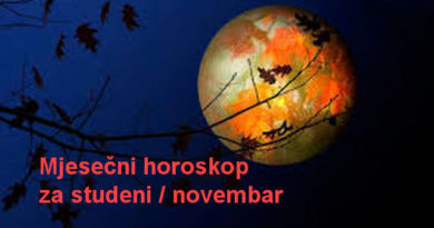 Mjesečni horoskop za studeni / novembar 2017