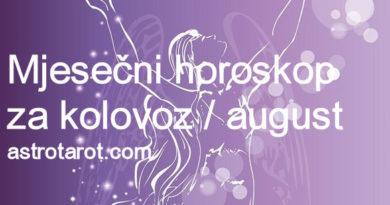 Mjesečni horoskop za kolovoz / august 2019