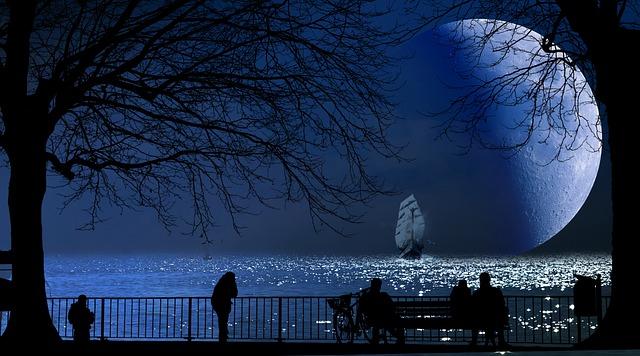 https://pixabay.com/photos/fantasy-moon-lake-water-ship-4906330/